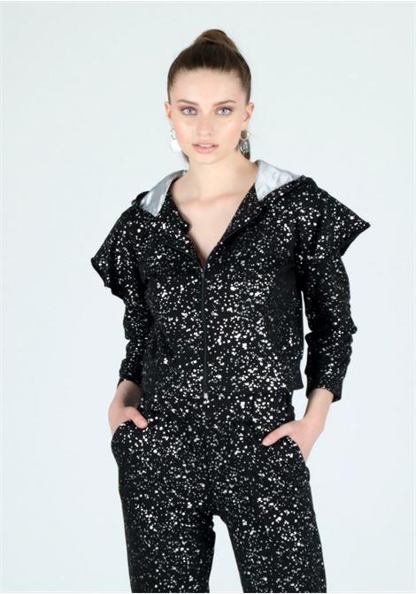 black lurex sweatshirt Le Volière   Felpa   WW21F206SBLACK