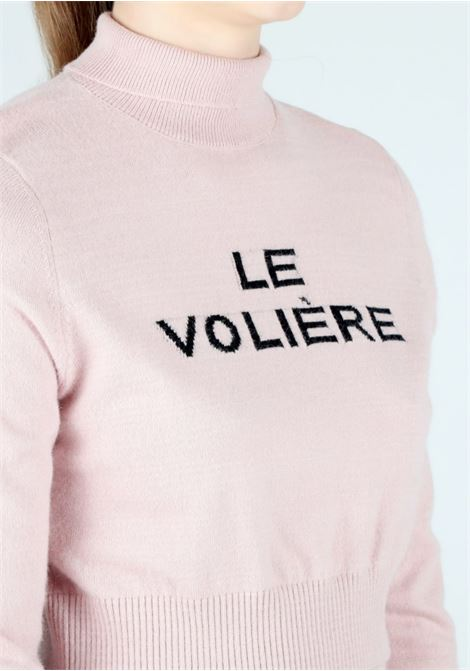 pink knitwear cropped mesh Le Volière | Maglia | WW21K113PPINK