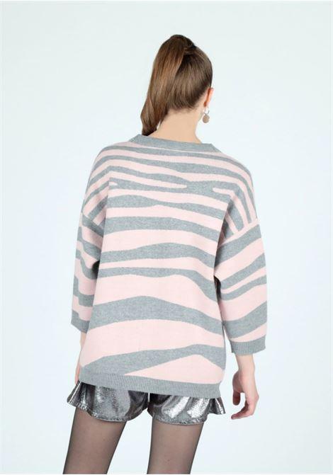 zebra knitwear cardigan Le Volière   Cardigan   WW21M202ZG&P