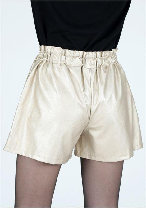 golden leather shorts Le Volière | Shorts | WW21P150GGOLD