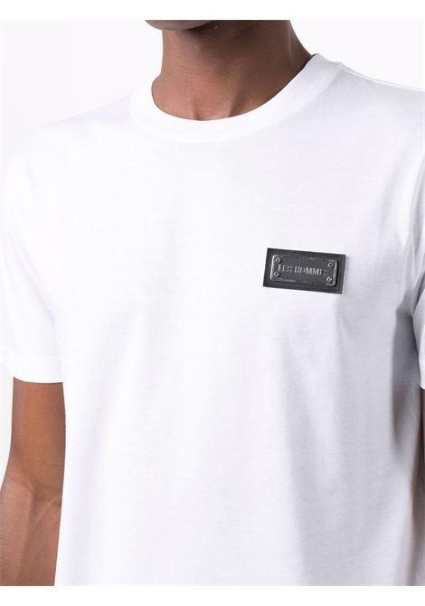 round neck t-shirt with metal logo Les Hommes   T-shirt   LLT100717U1000