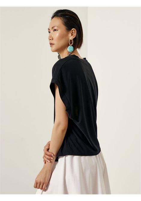 Blusa a maniche corte ACC ESS Fashion | Blusa | 2109-398BLACK