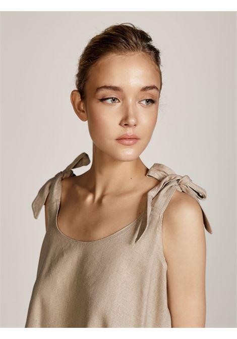 Blusa a maniche corte ACC ESS Fashion | Blusa | 2137-569BEIGE