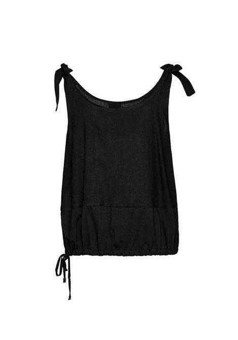 Blusa a maniche corte ACC ESS Fashion | Blusa | 2137-569BLACK