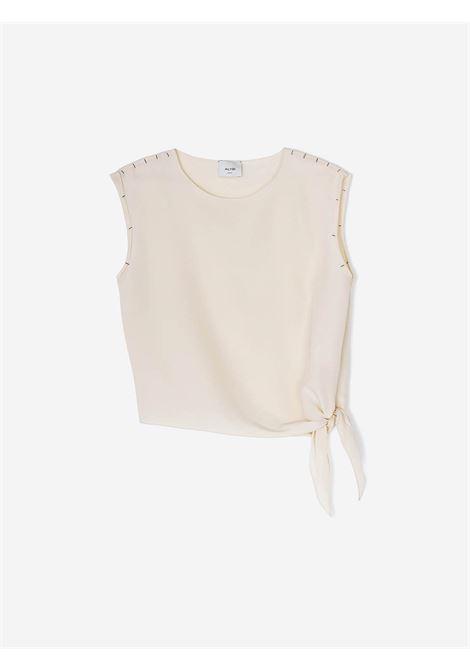 bluse crepe sand Alysi | Blusa | 101211-P1032PELLE