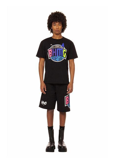 T-shirt con stampa metallizzata BHMG   T-shirt   029036NERO