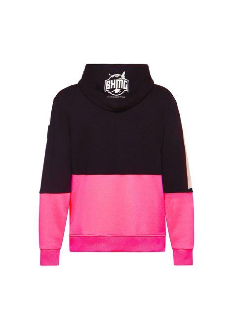 Hoodie bicolore fluo BHMG | Felpa | 029044NR-FX