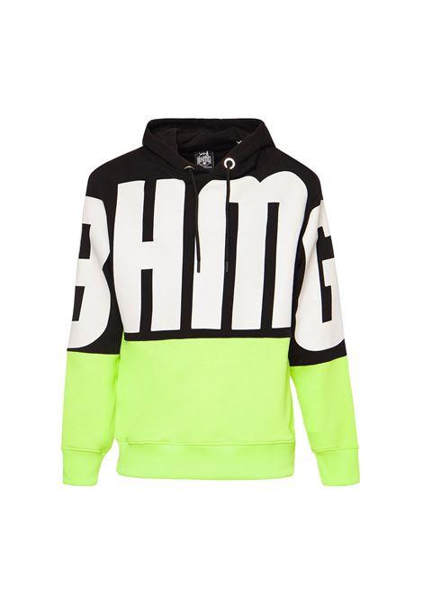 Hoodie bicolore fluo BHMG | Felpa | 029044NR-GLL