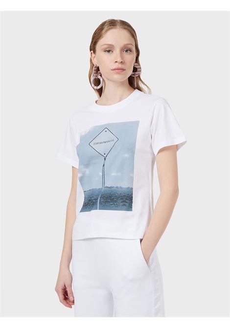 T-Shirt stampata Emporio Armani   T-shirt   3K2T8A-2J53Z0100