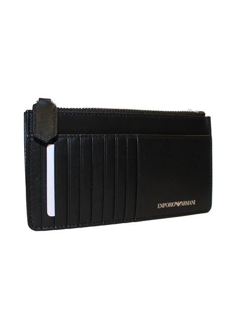 Portacarte logato Emporio Armani | Portacarte | Y3H089-YTE1ENERO