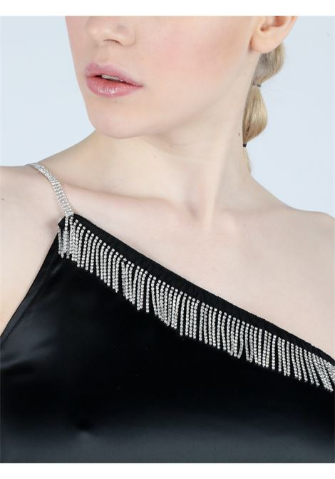 strass mono shoulder dress Le Volière | Abito | WS21D005BBLACK