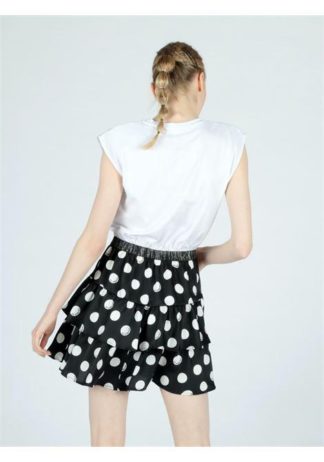 white pois dress Le Volière | Abito | WS21D011WB&W