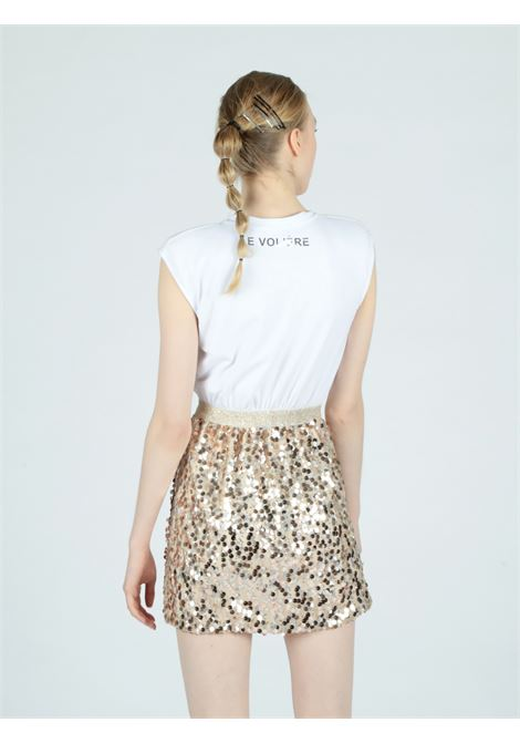 T-shirt dress golden sequins Le Volière   Abito   WS21D068GW&G