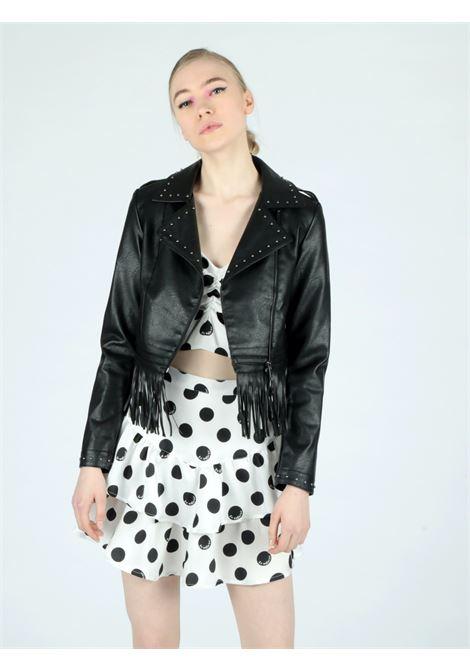 strass leather jacket Le Volière | Jacket | WS21J017BLBLACK