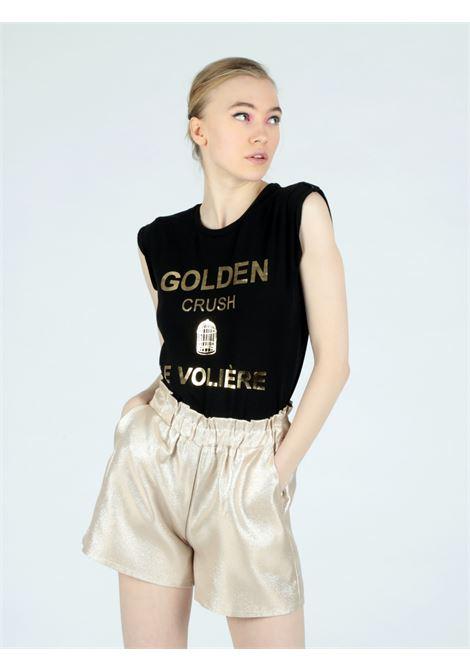 golden shorts Le Volière | Shorts | WS21P042GGOLD