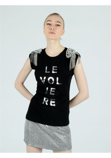 strass t-shirt Le Volière | T-shirt | WS21T001JBLACK