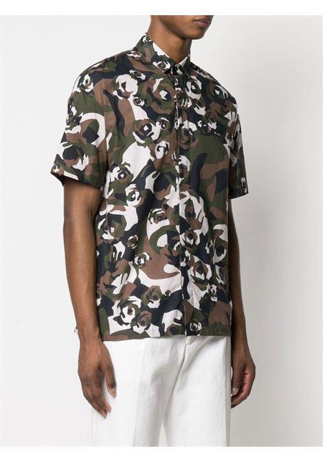 Camicia camouflage Les Hommes | Camicia | LKS300466P9776