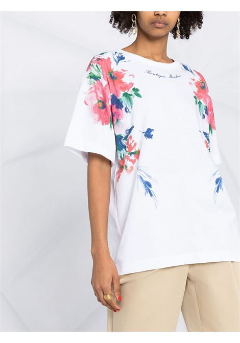 T-Shirt stampa a fiori Moschino Boutique | T-shirt | A12065001