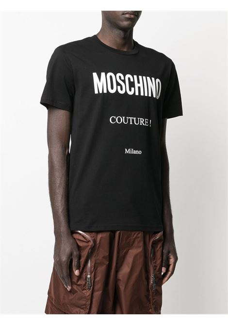 T-shirt con stampa Moschino Couture | T-shirt | 07191555
