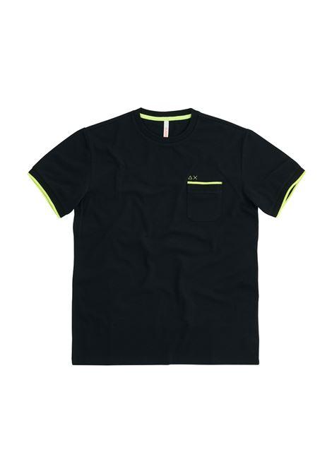 knit rib el. Sun68 | T-shirt | T3111511