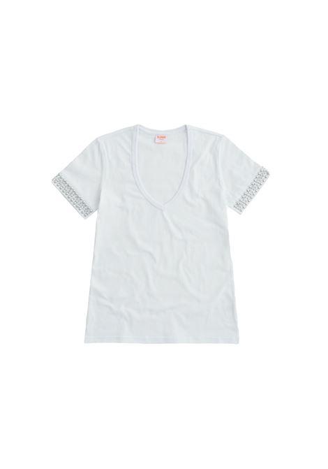 vneck studs Sun68 | T-shirt | T3120301