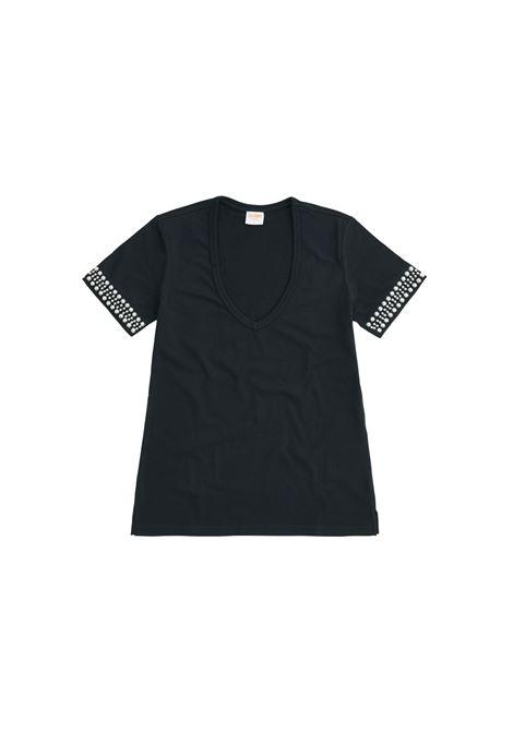 vneck studs Sun68 | T-shirt | T3120311