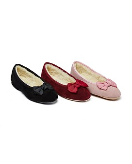 Ladies Sheepskin Slippers Ballerina