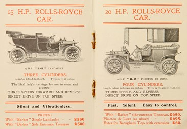 Rolls Royce Advert 1905