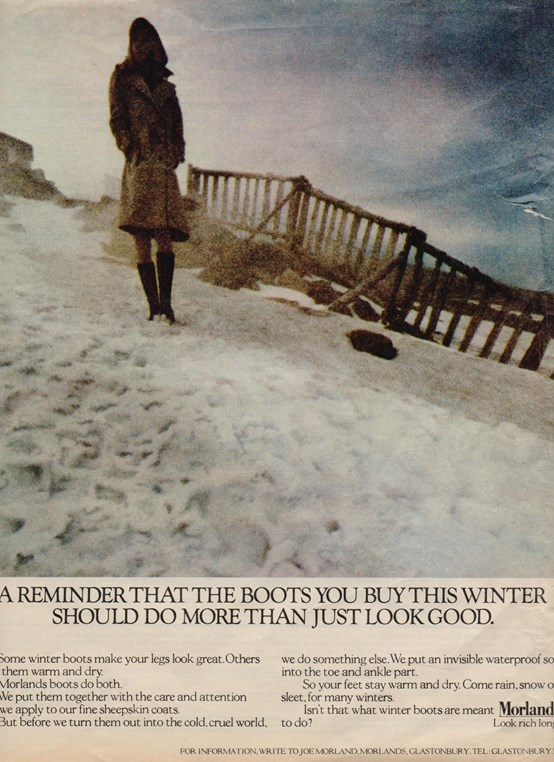 Morlands Winter Boots Advert 1970s