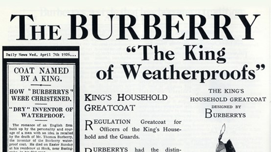 Burberry Advert 1926