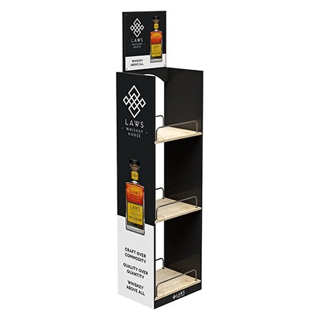 Liquor Wood Display Rack