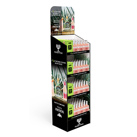 Fever Tree Corrugated Display