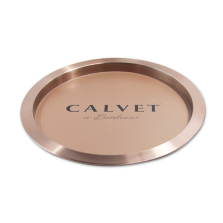 Metal Round Serving Tray