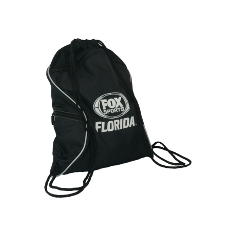 sports drawstring bag with zipper pocket