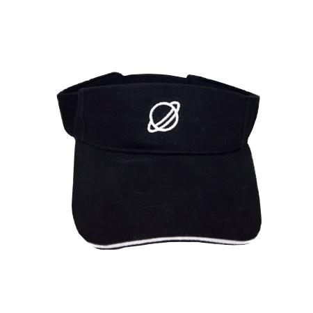 embroidered visor hat