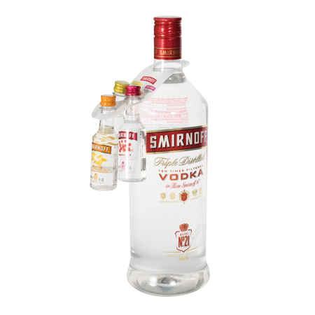 Smirnoff 3 Pack Bottle Hitchhiker