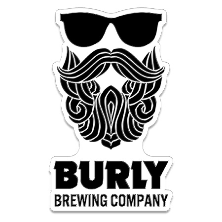 Burly Brewing Company Metal Tacker Sign