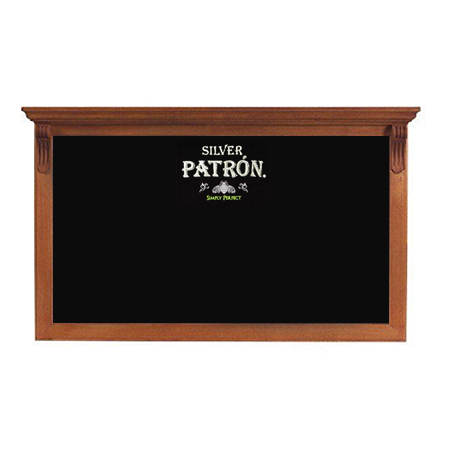 Wood Frame Chalkboard with Built-In Shelf
