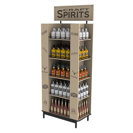 Craft Spirits Wood Display