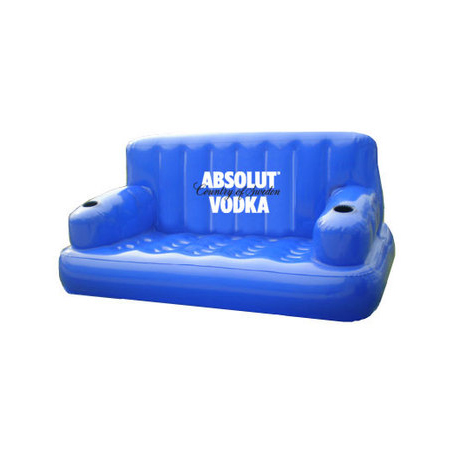 Custom Inflatable Couch with Cup Holder