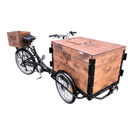 Wooden Bicycle Cooler