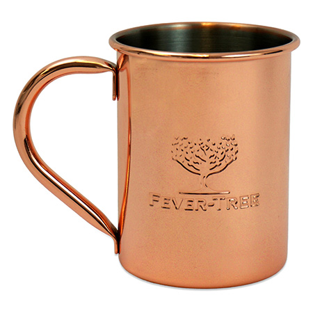 Embossed Copper Mug