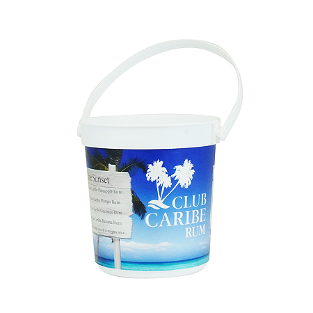 Full Color Print Rum Bucket