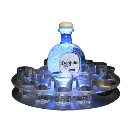 Illuminated Bottle Service Shot Tray