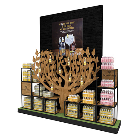 Giant Wooden Tree Store Display