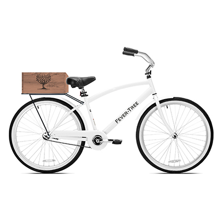 Branded Bicycle with Wooden Basket