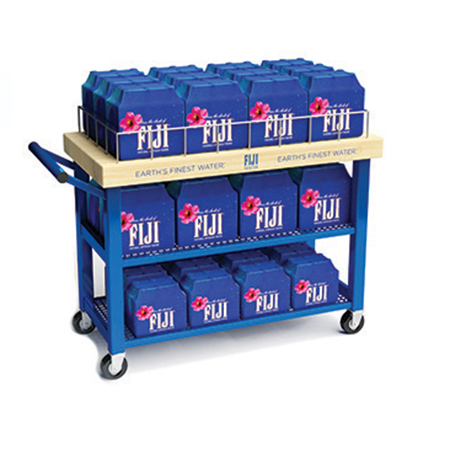 Rolling Metal Cart Display