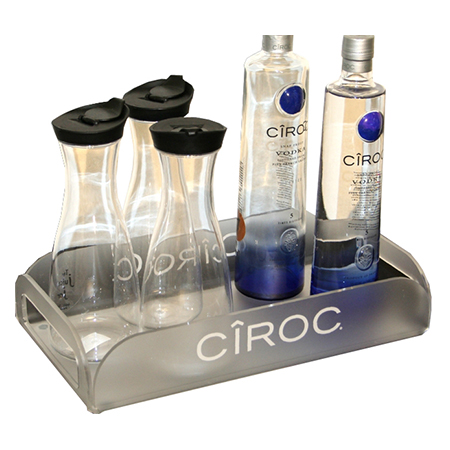 Frosted Bottle Tray