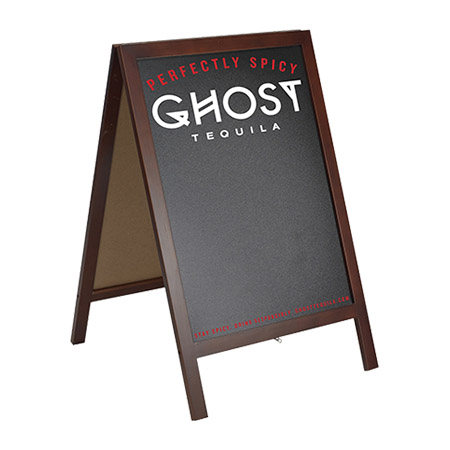 Ghost Tequila A-Frame sidewalk Sign