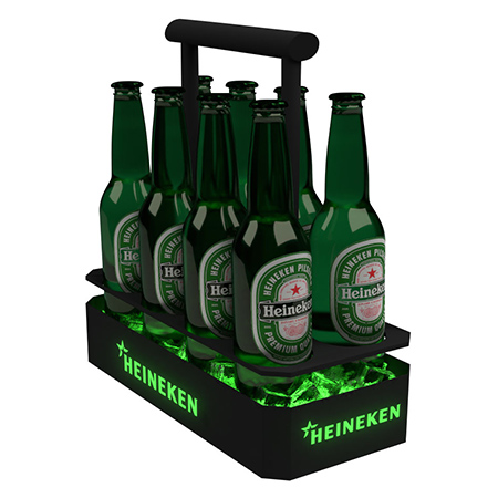 Illuminated Bottle Carrier Tray